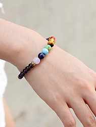 cheap -Natural Stone Bead Bracelet Beads Church Stylish Boho Stone Bracelet Jewelry Gold / Grape / Silver For Gift Date