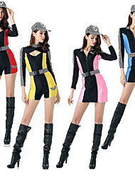 cheap -Cheerleader Adults' Women's Cosplay Costume Outfits For Polyster Masquerade Leotard / Onesie Belt Hat