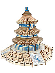 cheap -3D Puzzle / Jigsaw Puzzle / Model Building Kit Famous buildings / Chinese Architecture / Temple of Heaven Simulation Wooden Kid's /