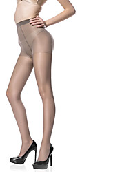 cheap -Women's Thin Pantyhose - Solid Colored / Fashion 15D Black Light Brown Beige One-Size