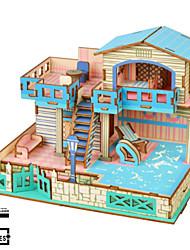 abordables -Puzzles 3D Puzzle Kit de Maquette Bâtiment Célèbre Maison A Faire Soi-Même En bois Classique Unisexe Jouet Cadeau