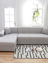 cheap -Solid Grey Print Dustproof Stretch Slipcovers Stretch Sofa Cover Super Soft Fabric Couch Cover(You will Get 1 Throw Pillow Case as free Gift)