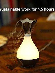 cheap -USB Air Humidifier Ultrasonic Aromatherapy Essential Oil diffuser Aroma LED Night Light Atomization Purifier Wood Vase