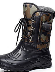 cheap -Men's Comfort Shoes Suede Winter Boots Booties / Ankle Boots Black / Blue / Khaki