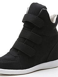 cheap -Women's Sneakers Wedge Heel Round Toe Suede Booties / Ankle Boots Fall & Winter Black / Yellow / Green
