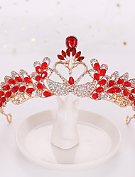 cheap -Alloy Tiaras / Hair Accessory with Rhinestone / Glitter 1 Piece Wedding Headpiece