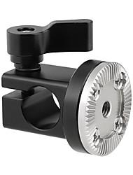 Недорогие -Camvate 15-миллиметровый однорельсовый хомут с розеткой M6 для крепления на розетку для камеры DSLR. Ручка C2319