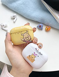 cheap -Case For AirPods Pro Cartoon pattern shiny PC material water paste technology Bluetooth headset protective shell