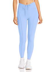 cheap -Women's High Waist Yoga Pants Drawstring Fashion Black Green Jade Pink Light Blue Running Fitness Gym Workout Tights Leggings Sport Activewear Moisture Wicking Butt Lift Tummy Control High Elasticity