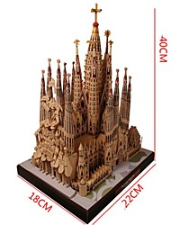 cheap -3D Puzzle Paper Model Famous buildings Church Cathedral DIY Hard Card Paper Kid's Unisex Toy Gift