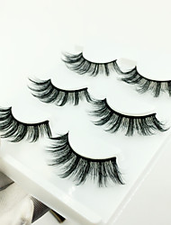 cheap -Eyelash Extensions 6 pcs Best Quality Pro Natural Safety Fiber Date Professioanl Use Full Strip Lashes Natural Long - Makeup Daily Makeup Party Makeup Smokey Makeup Fashion Modern Cosmetic Grooming