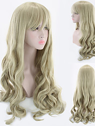 cheap -Synthetic Wig Wavy Asymmetrical Wig Blonde Long Blonde Synthetic Hair 27 inch Women's Best Quality Blonde