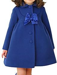 Недорогие -Дети (1-4 лет) Девочки Классический Однотонный Куртка / пальто Лиловый