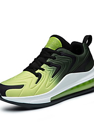 cheap -Men's Comfort Shoes Canvas / Tissage Volant Spring & Summer / Fall & Winter Sporty / Preppy Athletic Shoes Running Shoes / Walking Shoes Breathable Color Block Green / Red / Blue