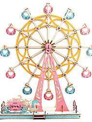 cheap -Ferris Wheel 3D Puzzle Wooden Puzzle Metal Puzzle Model Building Kit Wooden Model Metal Kid's Adults' Toy Gift