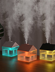 cheap -3 In 1 USB House Humidifier 250ml Ultrasonic Air Mist Maker Portable Aroma Essential Oil Diffuser Color Night Lamp Humidificador