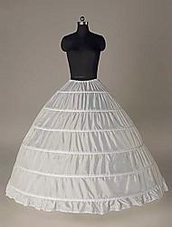 cheap -Princess Bride Classic Lolita 1950s 6 Hoop Dress Petticoat Hoop Skirt Under Skirt Crinoline Women's Girls' Costume Black / White Vintage Cosplay Party Performance Princess