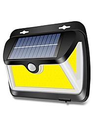 cheap -BRELONG Solar COB Induction Wall Light Three Sides Illuminated Outdoor Waterproof Garden Fence Lighting Street Light
