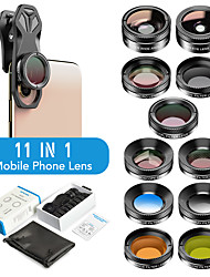cheap -Filter Phone Camera Lens Clip Optical On-line Travel 11 in 1 Cell Phone Lens Kit for iPhone and Android