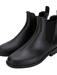 Недорогие -Муж. Резиновые сапоги Кожа Наступила зима Ботинки Сапоги до середины икры Черный / Коричневый