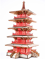 cheap -Wooden Puzzle Famous buildings Chinese Architecture House Professional Level Wooden 1pcs Kid's Boys' Gift