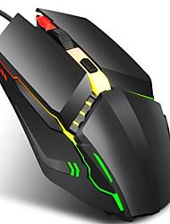 cheap -HXSJ S200 Wired USB Optical Gaming Mouse / Office Mouse Multi-colors Backlit 1600 dpi 3 Adjustable DPI Levels 4 pcs Keys