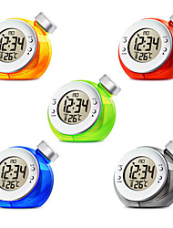 cheap -New Creative Water Powered Alarm Clock Magic Eco-friendly Ball Shape Smart Clock with Thermometer Home Decoration
