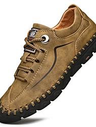 cheap -Men's Comfort Shoes Cowhide Spring Athletic Shoes Hiking Shoes Black / Yellow / Khaki