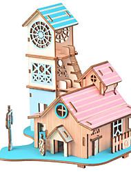 cheap -3D Puzzle / Jigsaw Puzzle / Model Building Kit Famous buildings / Furniture / House DIY / Simulation Wooden Classic Kid's Unisex Gift