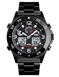 Недорогие -SKMEI Смарт Часы Цифровой Современный Спортивные силиконовый 30 m Защита от влаги Повседневные часы Cool Аналого-цифровые На открытом воздухе Мода - Черный Розовое золото Черный / серый
