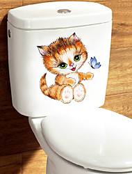 cheap -Toilet Stickers - Animal Wall Stickers Animals Bathroom / Kids Room 13*14.5cm