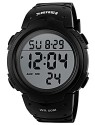 cheap -Men's Sport Watch Digital Outdoor Water Resistant / Waterproof Digital Black / Blue Black / Gray Black / Two Years / Japanese / Chronograph / Noctilucent / Japanese