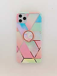 cheap -Case for Apple scene map iPhone 11 11 Pro 11 Pro Max X XS XR XS Max 8 Colorful diamond-shaped marble pattern plating TPU material IMD process ring bracket all-inclusive mobile phone case