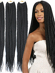 cheap -Faux Locs Dreadlocks Senegalese Twist Box Braids Natural Synthetic Hair Braiding Hair 6 Pack / The hair length in the picture is 24inch.