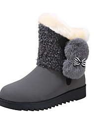 cheap -Women's Boots Flat Heel Round Toe Suede Booties / Ankle Boots Fall & Winter Black / Brown / Gray