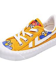 cheap -Boys' Comfort Canvas Sneakers Little Kids(4-7ys) Black / White / Yellow Fall