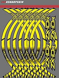 Недорогие -белый / желтый / зеленый мотоцикл обода колеса наклейки колеса светоотражающие наклейки полосы для kawasaki zx10r