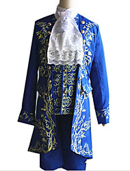 cheap -Prince Cosplay The Beast and Beauty Blazer Jacket & Pants Shirt Men's Halloween Carnival Festival / Holiday Elastane Tactel Men's Carnival Costumes Vintage / Top / Tie / Vest / Vest / Top