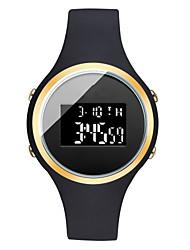 cheap -Men's Sport Watch Digital Outdoor Calendar / date / day Digital Gold / White White Black / One Year / Silicone / Chronograph / Noctilucent
