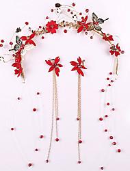 cheap -Alloy Hair Accessory with Rhinestone / Glitter 3 Pieces Wedding Headpiece