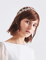 cheap -Rhinestone / Alloy Headbands with Rhinestone / Floral / Metal 1pc Wedding / Birthday Headpiece