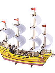 cheap -3D Puzzle Jigsaw Puzzle Model Building Kit Ship DIY Simulation Wooden Classic Adults' Unisex Toy Gift