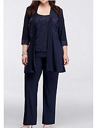 cheap -3/4 Length Sleeve Chiffon / Lace Wedding Women's Wrap With Lace Coats / Jackets