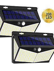 Недорогие -zdm 2шт солнечные фонари на открытом воздухе 208led / 3 modewireless датчик движения фары с 270 широкоугольным ip65 водонепроницаемый для ограждения палубы столб стены двери двора и гаража