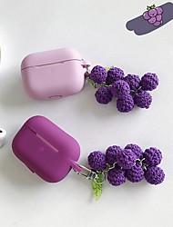 Недорогие -симпатичный виноградный кулон беспроводной bluetooth наушники чехол для apple airpods силиконовые наушники чехлы для airpodspro3 защитная крышка
