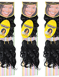cheap -Curly Wavy Costume Accessories Hair Weft with Closure Natural Color Synthetic Hair Braids Braiding Hair 2pcs