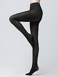 cheap -Women's Medium Pantyhose - Solid Colored / Fashion 200D Black Light Brown Beige One-Size