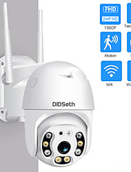 cheap -DIDseth HD 1080P Full-color Night Vision IP Camera 2 mp Wifi Mini PTZ Camera Outdoor Wireless CMOS Zoom Speed Dome CCTV Waterproof Security Camera Two-Way Audio Home Surveillance Camera