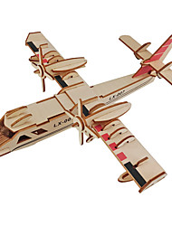 cheap -1 pcs Fighter Aircraft 3D Puzzle Wooden Puzzle Wooden Model Metal Kid's Adults' Toy Gift
