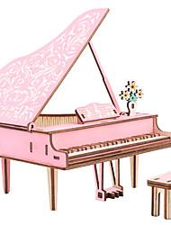 abordables -Puzzles 3D Puzzle Maquettes de Bois Piano Violon Instruments de Musique Simulation En bois Bois Naturel Enfant Unisexe Jouet Cadeau